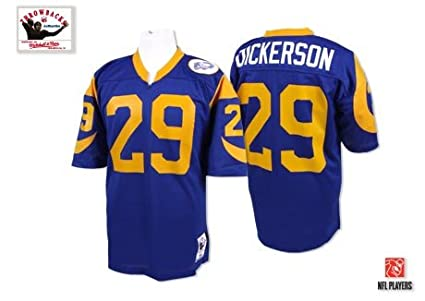 387091763 Image Unavailable. Image not available for. Color: Mitchell & Ness Eric  Dickerson Los Angeles Rams Authentic 1985 Blue NFL Jersey