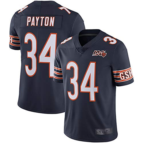 Men's #34_Walter Payton_Chicago_Bears_Navy 100th Season Retired Limited Jersey (3XL) (L)