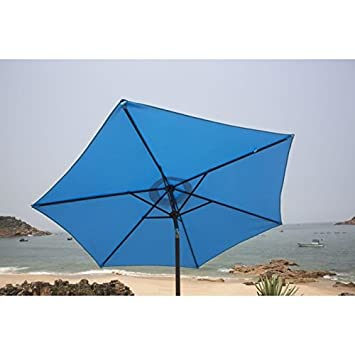 finlandek Parasol droit inclinable 2,5m   Bleu: Amazon.fr: Jardin