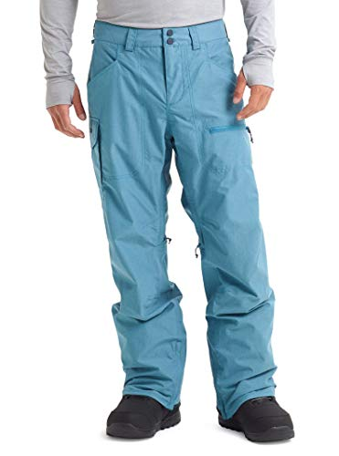 Burton Men's Insulated Covert Snowboarding Pant, Storm Blue Ripstop, Medium (Men Pants Snowboard Blue)