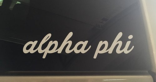 (Alpha Phi Cursive Script Sorority Sticker Window Laptop Car Decal Vinyl Ipad Iphone)