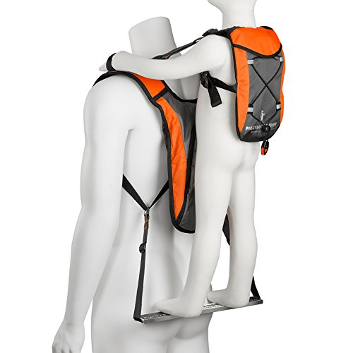 Piggyback Rider EXPLORER Model - Standing Child Toddler Carrier Backpack for Hiking Trails, Camping, Fitness Travel (Orange)