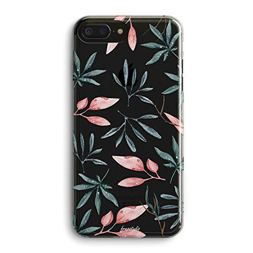 - iPhone 5s Case,iPhone SE Case,Rainforest Pink Green Nature Olive & Eucalyptus Leaves Summer Hipster Simple Chic Elegant Design for Fashion Girls Women Clear Soft Case Compatible for iPhone 5S/SE