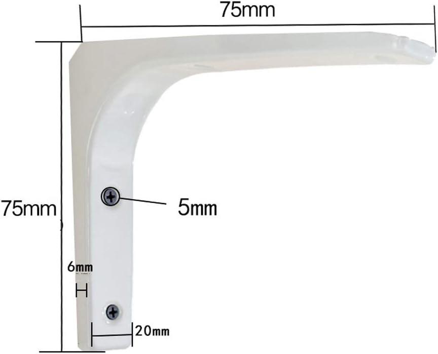 NMMA 2 Pezzi Mensola Staffa di Montaggio a Parete Triangolo ad Angolo retto Staffa Staffa di Metallo Bianco Ferro battuto Supporto Book Shelf Display Stand Size : 100mm