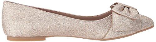 Betsey Johnson Vrouwen Cindi Puntige Neus Platte Champagne Glitter