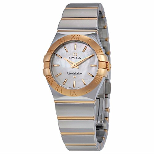 Omega Constellation Mother of Pearl Dial Steel and 18kt Rose Gold Ladies Watch 123.20.27.60.05.003
