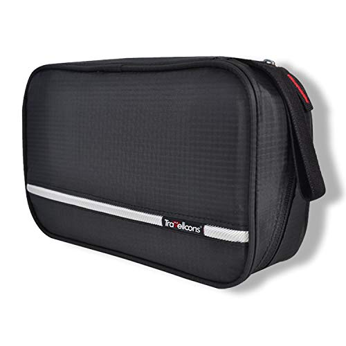 MAXCHANGE Mens Toiletry Bag, Foldable Toiletry Bag with Medi