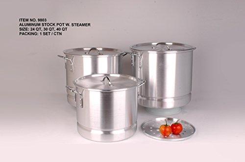 Uniware Heavy Gauge High Quality Aluminum Sauce Pot Set (6 Pcs Set (24 32 40 Qt))
