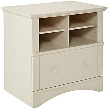 Sauder Harbor View Lateral File, Antiqued White