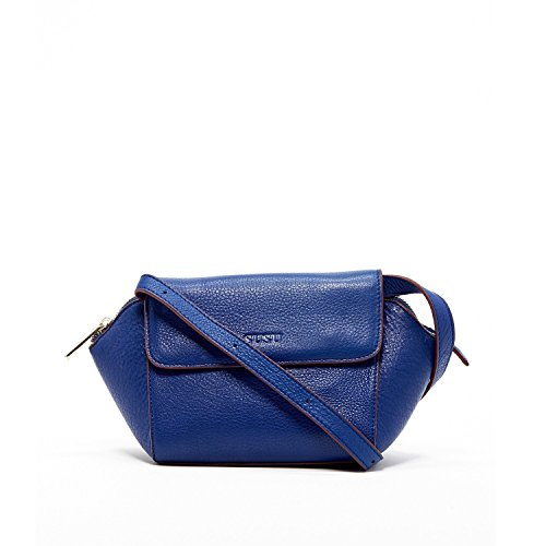 SUSU The Victoria Royal Blue Small Bags For Women Genuine Pebble Leather Crossbody with Flap Cute Designer Handbags Cute Bag Girls Red Lining (Small Flap Body Bag)