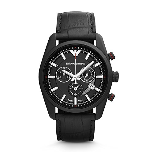 Emporio-Armani-Mens-AR6035-Sportivo-Chronograph-Leather-Strap-Watch