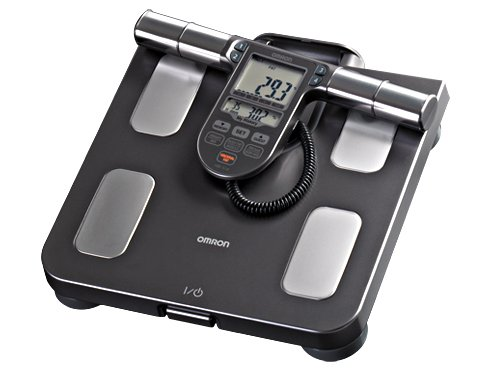 Measure Body Fat Composition (Omron Body Composition Monitor with Scale - 7 Fitness Indicators & 90-Day Memory)