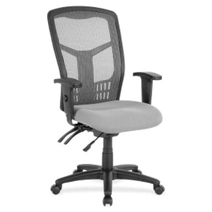 Lorell LLR86907 Ergomesh Seating Executive Mesh High Back Chair, 4u0026quot;  Height X 55.1u0026quot