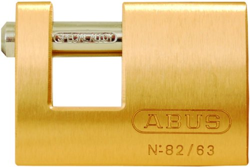 Abus Brass Padlock - ABUS 82/63 Monoblock Solid Brass Padlock Keyed Different