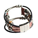 For Apple Watch 42mm Bands - Vintage Braided Classic Leather Bracelets Replacement Band Adjustbable Wristband Straps Accessories Apple Watch Series 3, Series 2, Series 1, Sport, Edition (D)