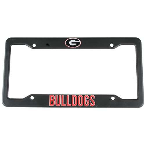 (NCAA Georgia Bulldogs Plastic License Plate Frame -)