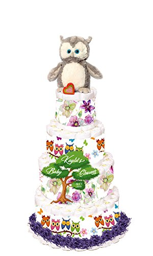 Owl Diaper Cake by Just For Your Baby Boutique