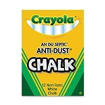 Crayola Nontoxic Anti-Dust Chalk, White, 12 Sticks/Box (50-1402) Case of 72 Dozens