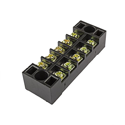 uxcell 6 Pcs Dual Rows 8 Positions 600V 15A Cable Barrier Block Terminal Strip TB-1508L