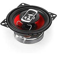 auna SBC-4121 - Haut-parleurs coaxiaux 3 Voies, Paire de Haut-parleurs intégrée, 800 W Max. Puissance, Tweeter au néodyme, Bobine ASV, Charge SPL 89dB, Fréquence: 100 Hz à 20 kHz, Noir-Rouge