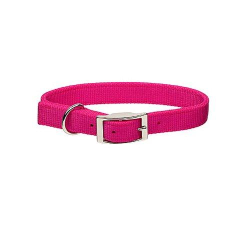 Guardian Gear Double-Layer Nylon Dog Collar, 26-Inch, Flamingo Pink