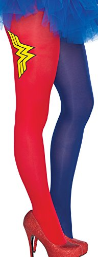[Rubie's Women's Dc Comics Wonder Woman Tights, Multi, One Size] (Group Family Halloween Costumes 2016)