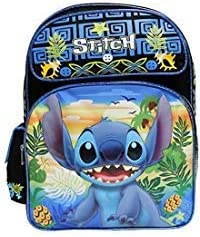 "NEW ARRIVE Disney Lilo and Stitch 16/"" Girls Large School Backpack"