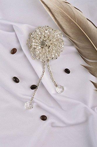 Handmade Seed Beaded Brooch Designer Brooch Evening Brooch Handmade ()