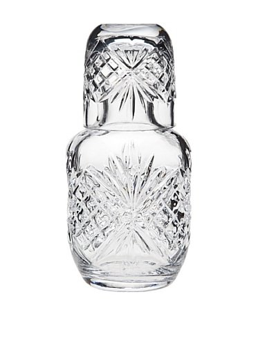 (Dublin Crystal Bedside Night Carafe With Tumbler Glass)