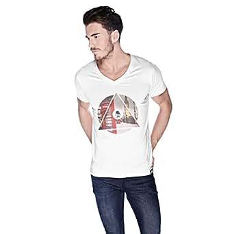Creo London Underground T-Shirt For Men - M, White