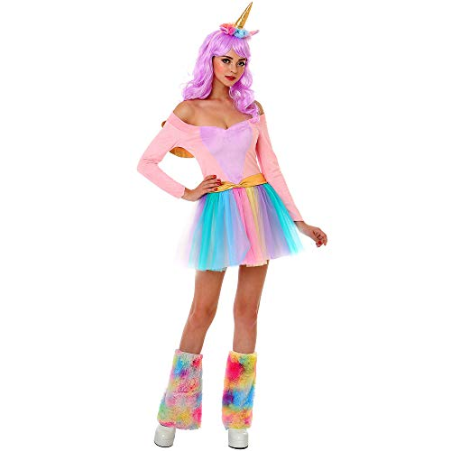 Rainbow Unicorn Halloween Costume for Adults | Great for Parties and Cosplay, L -