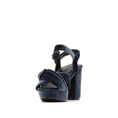 Blau Collections Hoher Schmuckschnalle Redoute Absatz Sandaletten La Frau SAMT q8c4RH