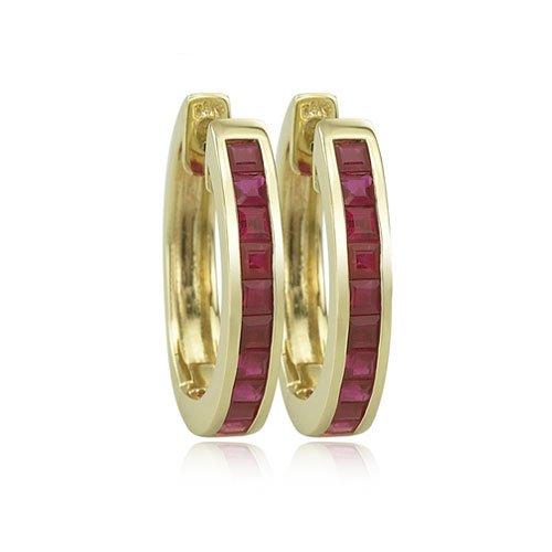 14K YELLOW GOLD Ruby Earrings by Jewelry Adviser Earrings (Image #4)