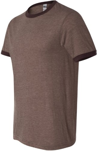 The Men's Jersey Ringer Tee (Heather Brown/ Brown) (Wholesale Ringer T-shirts)