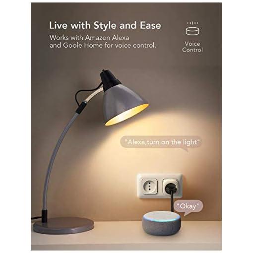 Nooie Enchufe Inteligente Smart Plug, Enchufes Inteligentes Temporizador Interruptor Wifi, Domotica para el Hogar (4 Packs)