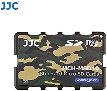 Gray Edition JJC Memory Card Case for 10x microSD Cards MCH-MSD10