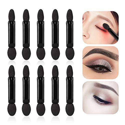 ift! Hormofy 10Pcs Makeup Double-end Eye Shadow Eyeliner Brush Sponge Applicator Tool ()