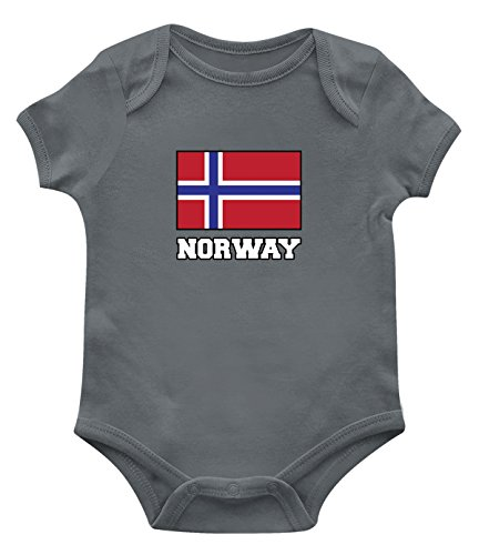 Norway Match (SpiritForged Apparel Norway Flag Infant Bodysuit, Charcoal 6 Months)