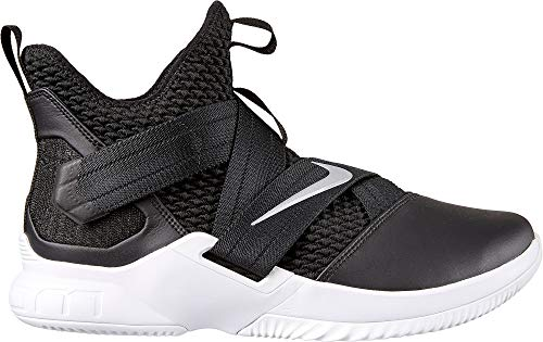 Nike Zoom Lebron Soldier XII TB Basketball Shoes (M5.5/W7, Black/Silver)