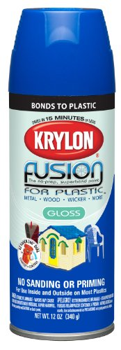 (Krylon (2329-6 PK 'Fusion for Plastic' Patriotic Blue Plastic Paint - 12 oz. Aerosol, (Case of 6))