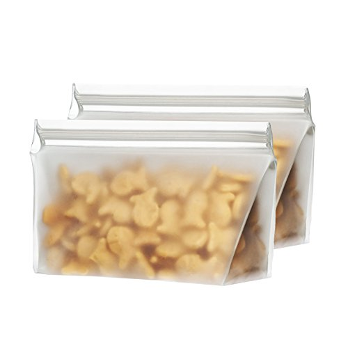 BlueAvocado Re-Zip Seal Reusable 1-Cup Snack and Lunch Bag, Pack of 2