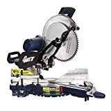 HYD-Parts Sliding Compound Miter Saw, 12-Inch Dual Bevel Saw with Laser and LED Work Light