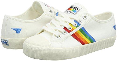 Coaster Donna Avorio Gola Off White Sneaker multi White Rainbow Powder off multi qwpwd1x