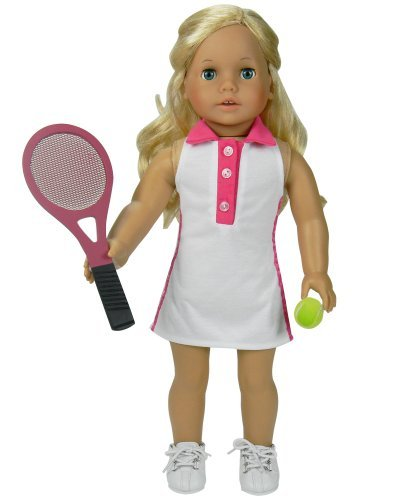 b10130982767b Amazon.com: Fits American Girl Dolls 18 Inch Doll Tennis Dress Set ...