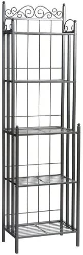 Home Decorators Collection Celtic Metal Baker s Rack, 69.25Hx19.5W, Grey