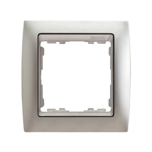 Simon - 82914-33 marco 1 elemento s82 metal noble aluminio mat Ref. 6558239158 M133574