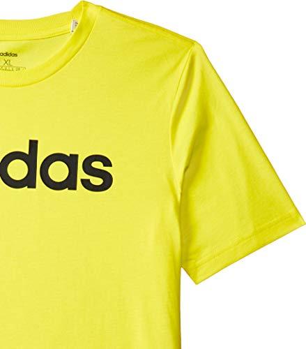 adidas Boys Tshirt Kids Young Essentials Linear Logo Tee Training DV1812 Yellow 3