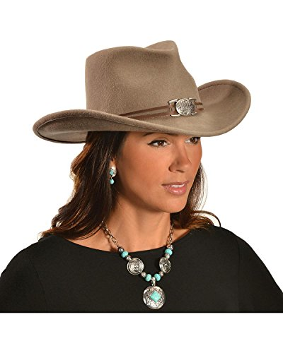 Master Hatters Women's Juniper Wool Felt Cowgirl Hat Prairie Small