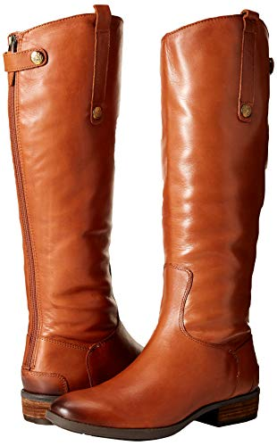 Sam Edelman Women's Penny Riding Boot, Whiskey Leather, 6 Wide US