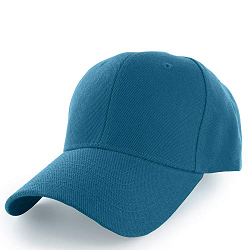 KANGORA Plain Baseball Cap Adjustable Men Women Unisex | Classic 6-Panel Hat | Outdoor Sports Wear (20+Colors) (Turquoise)